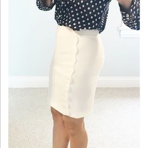 White pencil bottom skirt